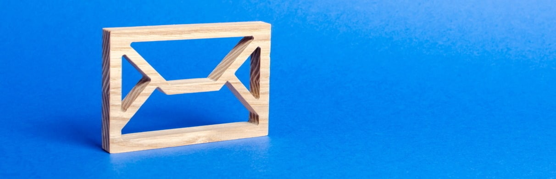wooden envelope frame